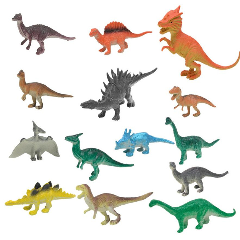 19 Pcs/Set Jurassic Park Plastic Mini Simulation Dinosaur Action Figure Anime Figure Model Hot Toys For Children Birthday Gifts