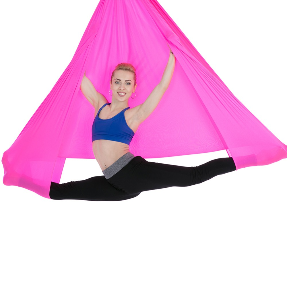 6*2.8m Anti-Gravity Yoga Hammock Pilates Yoga Gym Hanging Belt Swing Body Building Fitness Equipment Aerial Traction Device relefree 14 colors aerial flying anti gravity yoga hammock swing yoga body building workout fitness inversion tool freedrop