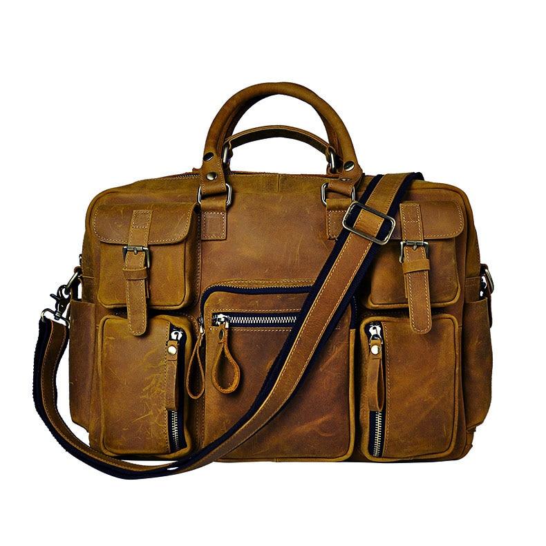 2012 fashion vintage galen häst läder handväska resväskan manliga - Väskor för bagage och resor - Foto 6