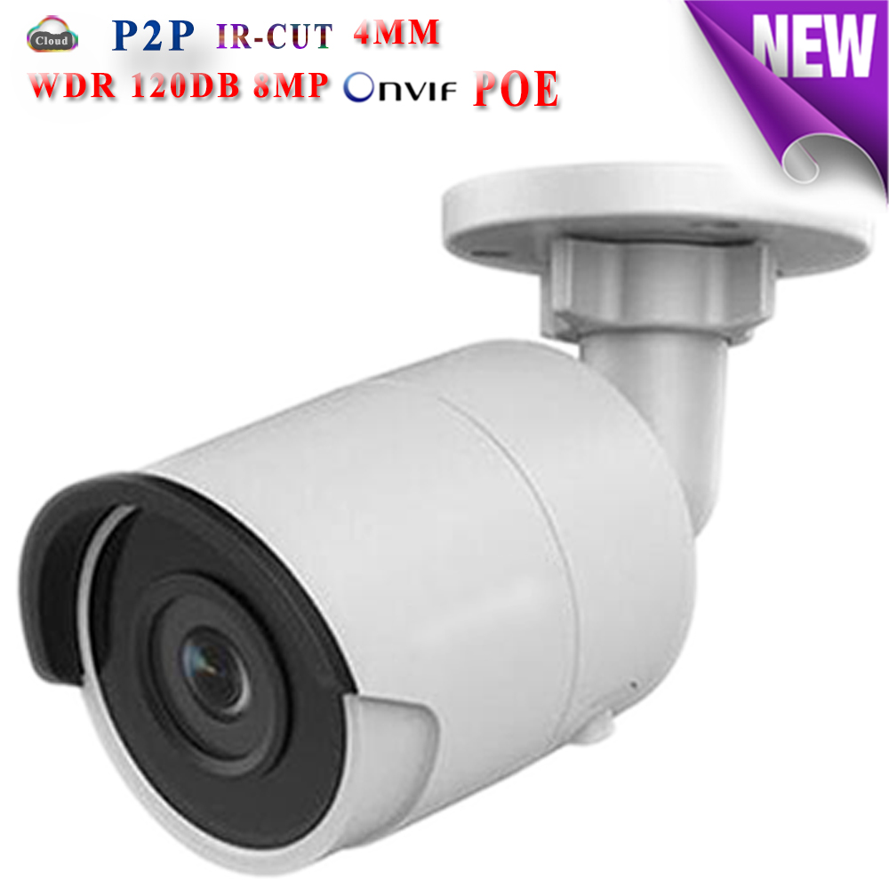 Hikvision H.265 CCTV camera bullet WDR 4K 8MP Full HD DS-2CD2085FWD-I IP Camera POE waterproof outdoor IP66 TF Card slot