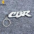 Motorcycle Racing Key rings for Honda CBR 600 919 954 1000 1100 RR White Hayabusa Keychain soft Rubber motocross Rings