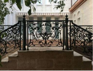 Wrought Iron Railing Mounting Brackets Front Porch Iron Railing | Exterior Wrought Iron Railing Cost | Ironwork | Fence | Stainless Steel | Balcony Railing | Handrails