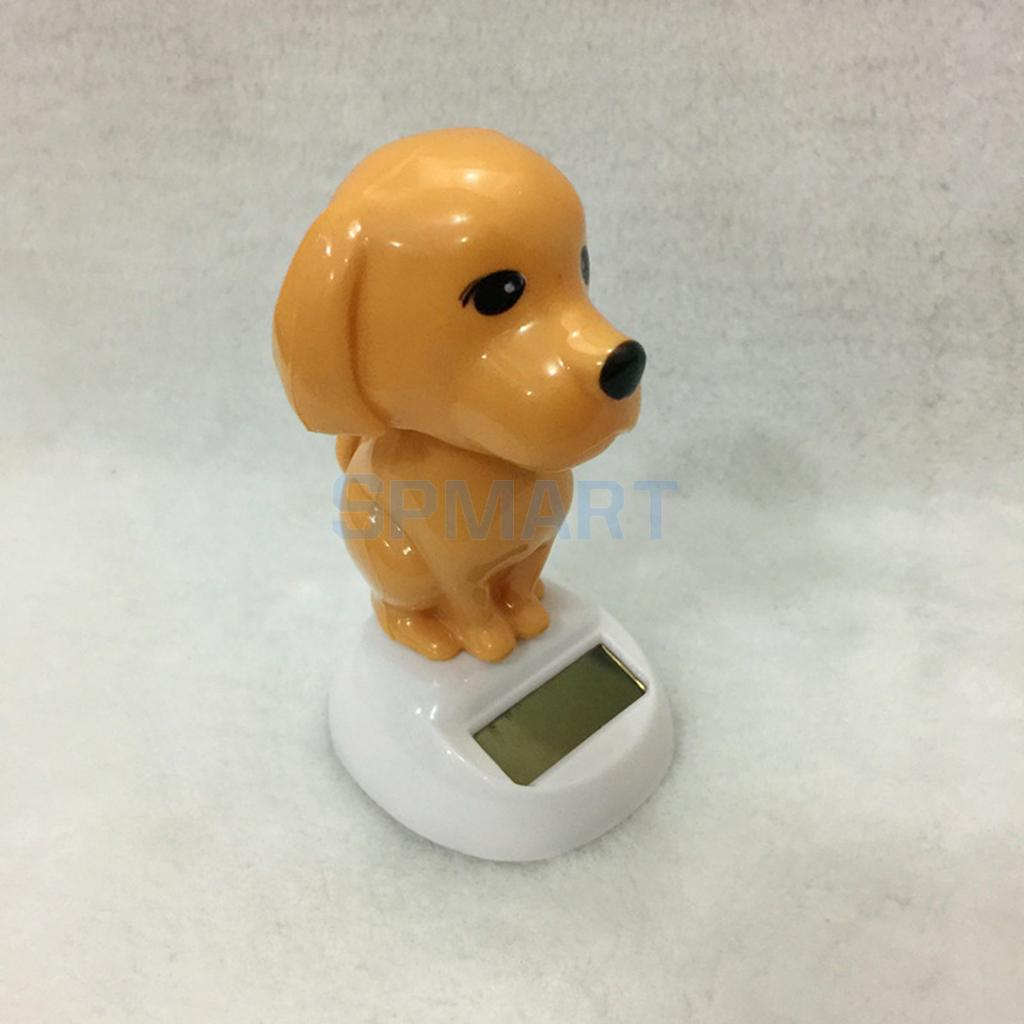 Solar Power Dancing Cartoon Animal Puppy Dog Pet Car Table Home Decoration Kids Novelty SunCatchers Toys Gifts Educational ...