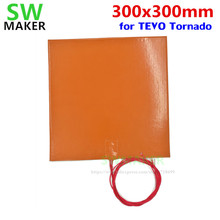 "SWMAKER 110V / 220V 500W Silicone heating pad heater 300x300mm 12"" X 12""  for DIY Reprap TEVO Tornado 3D Printer Heated Bed"