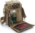 2014 nueva moda hombre viajes lona de la calidad bolsa hombre bolsa de mensajero de múltiples funciones a estrenar tamaño Mini bolsos del estilo para hombre de Color XB108