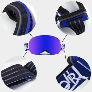 Image 4 - OTG Characterist Print Strap Ski Goggles Snow Glasses Men Skibrille Anti fog Snowboard Skiing Women Sunglasses Outdoor Sport