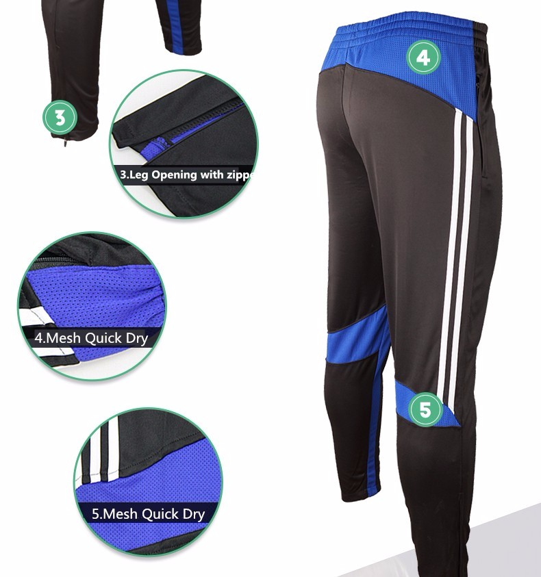 Soccer Training Pants Men Joggers Slim Skinny Jogging Running Tights Trousers Tracksuits Bottoms survetement football 2017 1