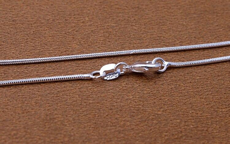 Дешевые цепи оптовая продажа с серебряным покрытием ожерелье падение доставка 16 18 дюймов 20 дюймов 22 дюйма 24 inch 26 28 30 дюймов Змея цепи ожерель...