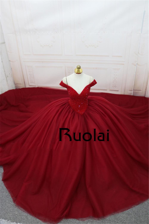Gorgeous Ρεάλ φωτογραφία κόκκινο φόρεμα - Ειδικές φορέματα περίπτωσης - Φωτογραφία 3
