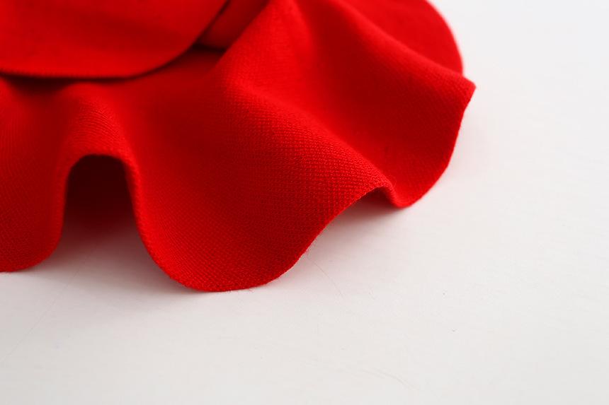 Wool knit solid short skirt girls half skirt 2017 new Korean children\'s clothing children\'s skirt (1)