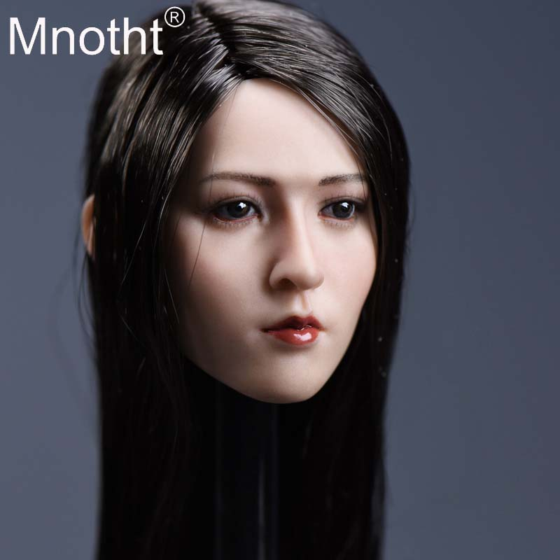 купить Asian Beauty Head Sculpt 1/6 Scale Female Head Soldier Head Carving Rue Resin Model for 12in Action Figure Toy Collection Mnotht по цене 3409.22 рублей