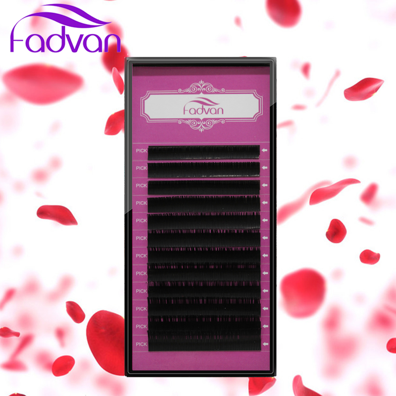 Fadvan lash 1 Case All Size JBCD wimperextensions mink black nep valse wimpers curl Lashes Extension For Professionals