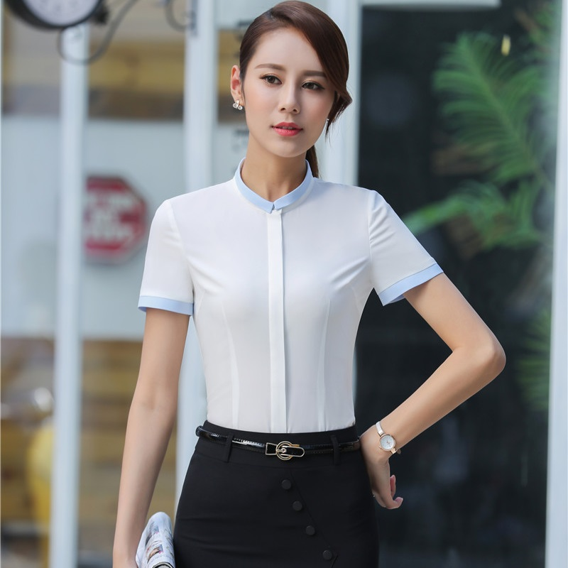 Slim Fashion Formal OL Styles Business Work Wear Suits With 2 Piece Tops And Skirt For Ladies Office Beauty Salon Uniforms Set