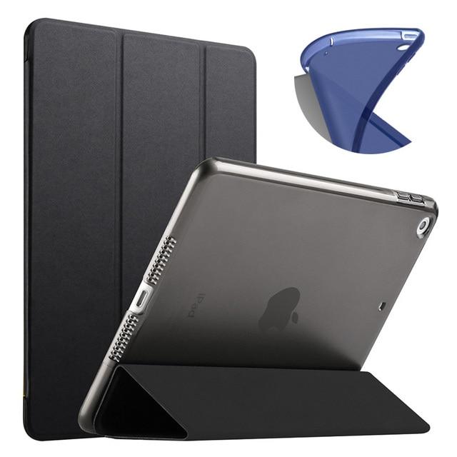 Mới Máy Tính Bảng dành cho iPad 2018 2017 9.7 Ốp Lưng Thông Minh Cấp Kiểu TPU Mềm A1822 A1893 Cover cho iPad 9.7 2017 2018 Smart Flip Cover
