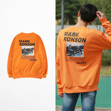 Retro Harajuku Ins Mark Ronson Print Orange Hoodies Men Hip Hop Sweatshirt Riverdale Lil Peep Mens And Sweatshirts