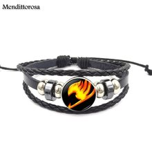 Fairy Tail Black Leather Bracelet
