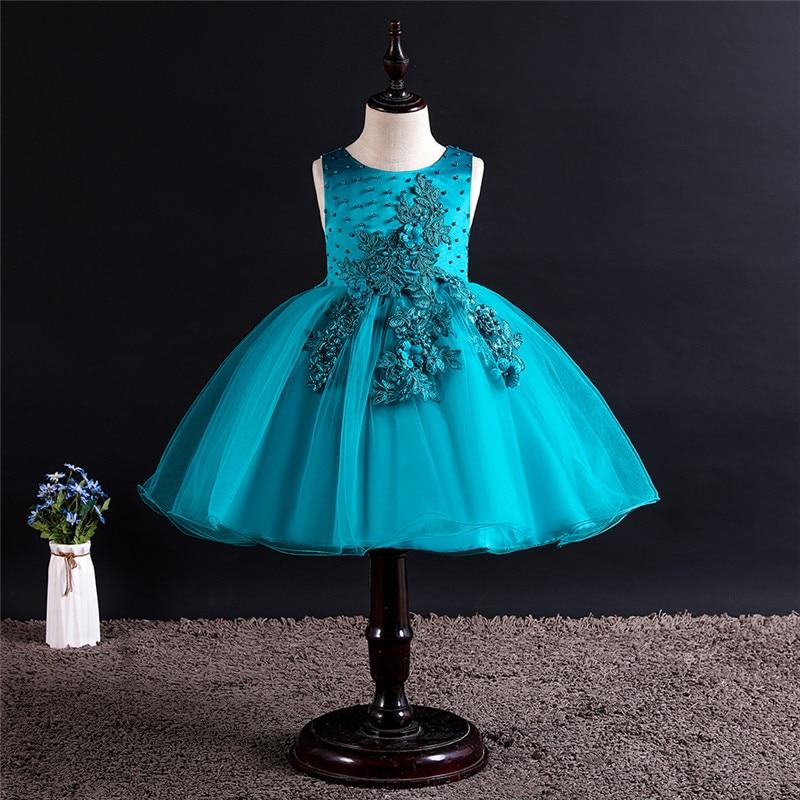 Infant Kids   Dress   for   Girls   Children Lace   Flower     Girls     Dress   Party Wedding   Dress   Elegent Princess Vestidos 1-12 Years