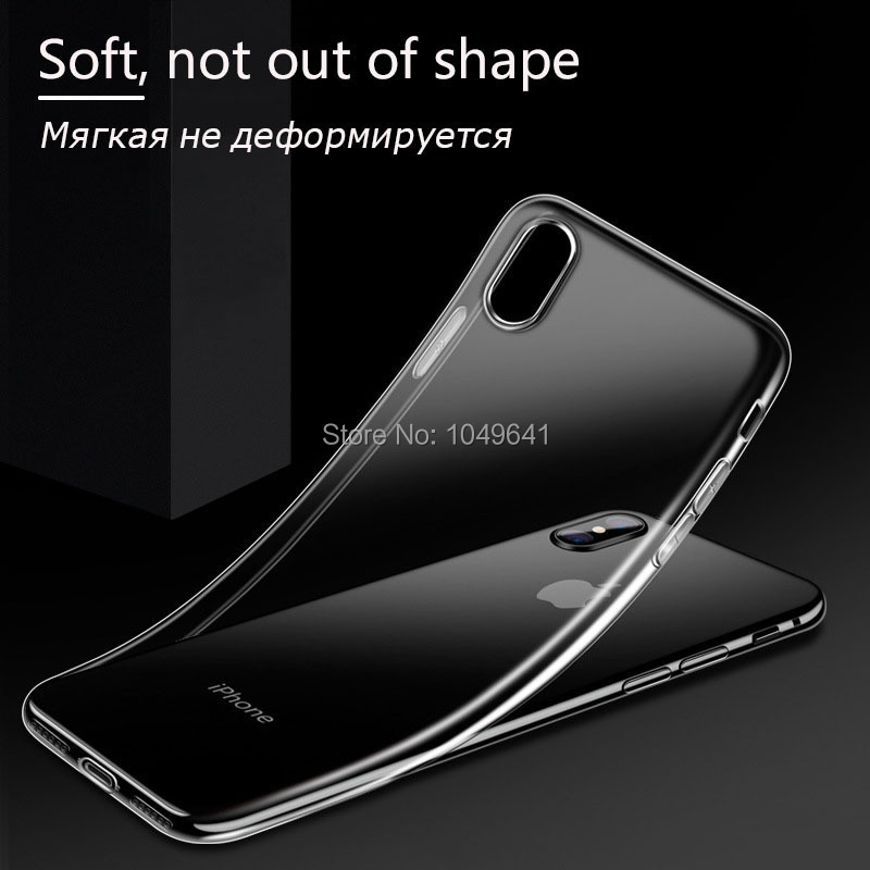 KIPX1004_3_Transparent Clear TPU Case For iPhone X.