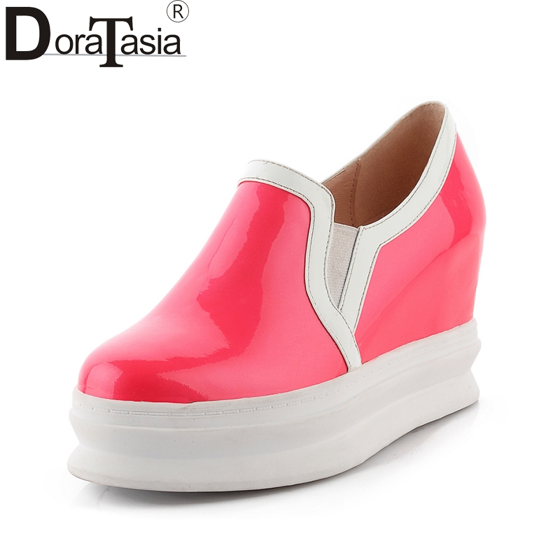 DoraTasia 2018 New Top Quality Dropship Genuine Leather Shoes Women Fashion Cow Leather Casual Shoes Loafers Flats top brand high quality genuine leather casual men shoes cow suede comfortable loafers soft breathable shoes men flats warm