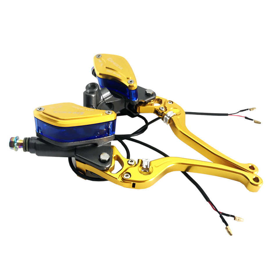 Moto universelle maître-cylindre levier frein pompe d'embrayage hydraulique moto 22mm pour honda vespa yamaha mxs125 Scooter