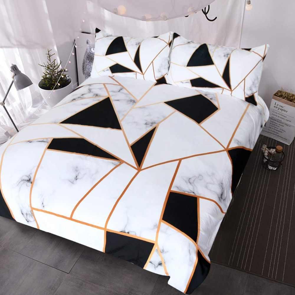 Geometric Marble Duvet Cover