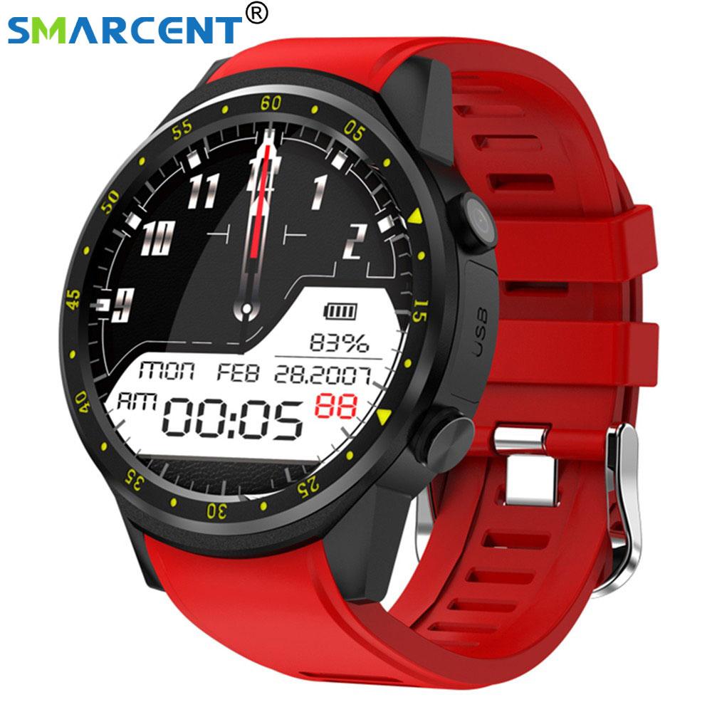 купить Smarcent F1 Sport Smart Watch with GPS Camera Stopwatch Bluetooth Smartwatch SIM Card Wristwatch for Android IOS Phone по цене 4184.57 рублей