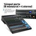 G-MARK MG16 16 canaux console de mixage Bluetooth USB chargeur Audio mélangeur HD DJ lecteur indépendant