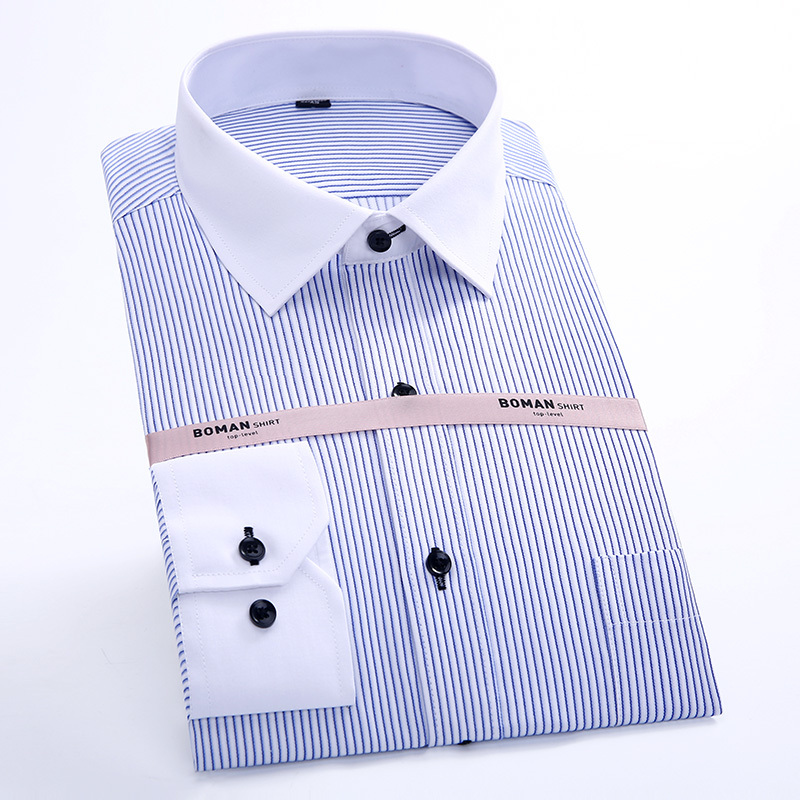 New Arrival High Quality Brand Mens Clothes Mens Dress Shirts Men Striped Shirt Formal Male Shirts Work/Offiice Wear