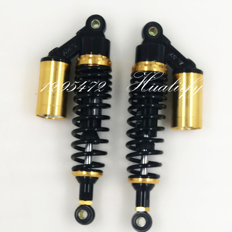 305 мм 310 мм 315мм азота амортизаторы 7мм пружины для Хонда/Ямаха/Сузуки/Кавасаки/велосипеды грязи/ квадроциклов/мотоциклов черный и золотой