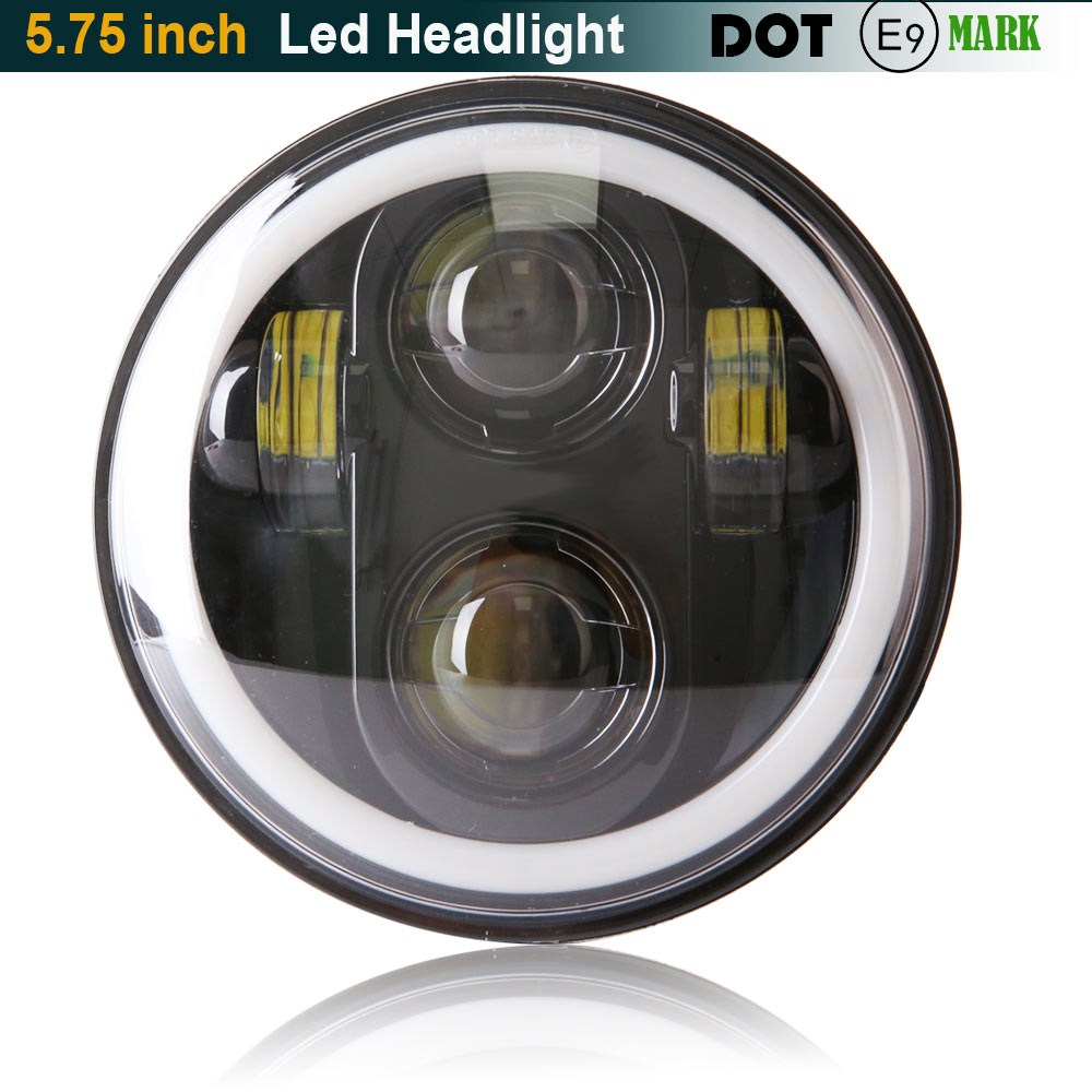 LED Motorbike Auxiliary HeadLights 5.75 LED Daymaker Scooter Headlamp Assembly Motorcycle LED Headlight for Harley Motorcyle for chery riich m1 headlights headlight assembly front lights light headlamp 1pcs