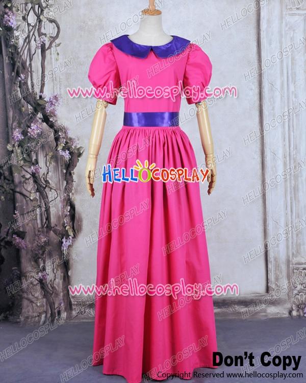 Principessa Bubblegum Principessa Costume Cosplay Vestito Rosa H008