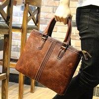 Fashion Designer Men S Leather Briefcase Brand Men Maletin Hombre Bostanten Luxury Male Business Portfolio Briefcases
