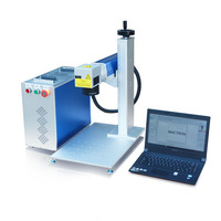 High Speed 20W Desktop Raycus Fiber Laser Marking Machine For ABS,SS,Plastic,Pad Printing Stainless Steel
