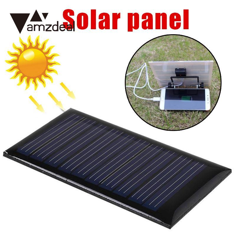 amzdeal Mini Solar Power Panel 5V 0.15W 30mA DIY Module For Cells Battery Charger Outdoor Travelling Powerbank Solar Panel Cell