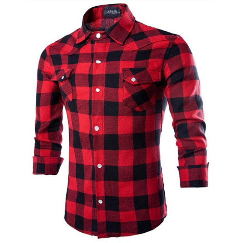 New Spring Autumn Style Men's Long Sleeve Shirt Casual
