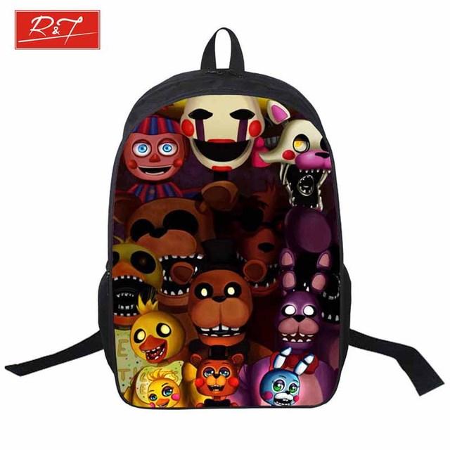 2016 cinco noches freddys niños mochilas niños niñas mochila para bolsas adolescente juveniles estudiante mochila envío libre