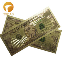 10pcs/lot USA Gold Banknote 1 Million in 24K Plated Currency Banknotes Fake Money For Collection