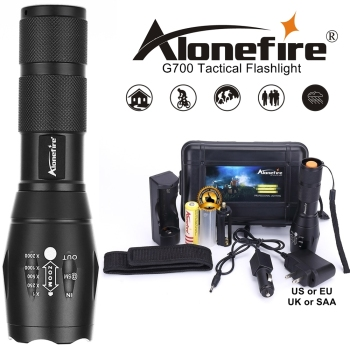 Powerful G700 Flashlight Cree XML T6 L2 led Aluminum Waterproof Zoom Camping Torch Tactical light AAA 18650 Rechargeable Battery cree xml t6 led flashlight 8000 lumens lanterna adjustable led torch zoom tactical flashlight charger 1 18650 battery