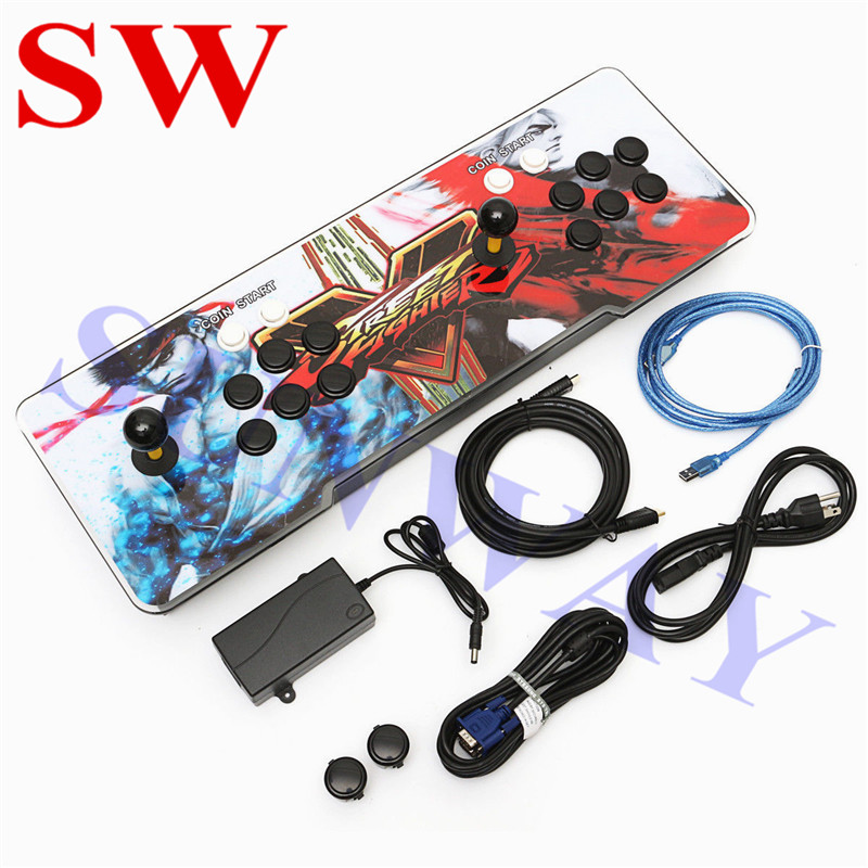US $82 99 |Hot Sale 1299 in 1/1388 in 1 Arcade Game Console With USB Cable  To PC Joystick For Home TV HDMI Video Multi Games Console-in Replacement