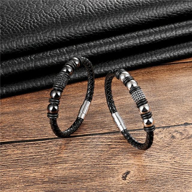 Купить новый бренд janeyacy модный кожаный браслет ручной работы мужской