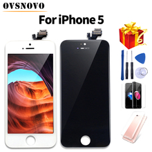 AAA LCD pantalla For iPhone 5 Display Touch Screen Replacement Assembly For iPhone 5s 6 6 plus+Glass Protector&Tools&TPU Case