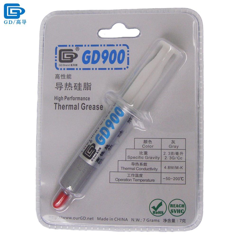 GD900 Termico Conduttivo Pasta Grasso Al Silicone Intonaco Dissipatore di Calore Compound Ad Alte Prestazioni Grigio Peso Netto 7 Grammi Per CPU BR7