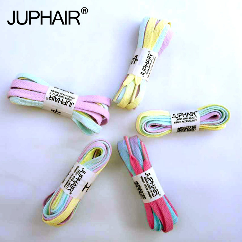 JUP50 Pairs Candy Color Lace With Color Hand-dyed Shoelace With Tie-up Gradient Shoelaces With Canvas Shoes Shoelace Accessories 5 pairs 1cm width british scotland plover grid style shoelaces canvas shoes sneakers flat shoes lace 70 80 90 100 110 120 130cm
