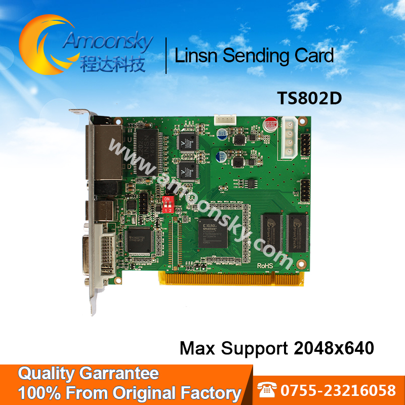все цены на 100% from original factory full color led video display controller linsn control system linsn ts802d sending card онлайн
