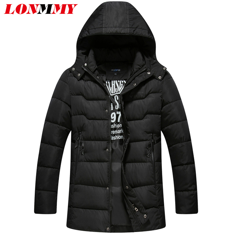 LONMMY M-3XL Hooded cotton Parka Polyester Winter Jackets And Coats Thick Warm Fashion Casual Men Parka mens jackets and coats