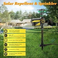 Garden Birds Dogs Cats Repeller Solar Powered Pest Animal Repeller Motion Activated Animal Repellent Sprinkler Garden Supplies