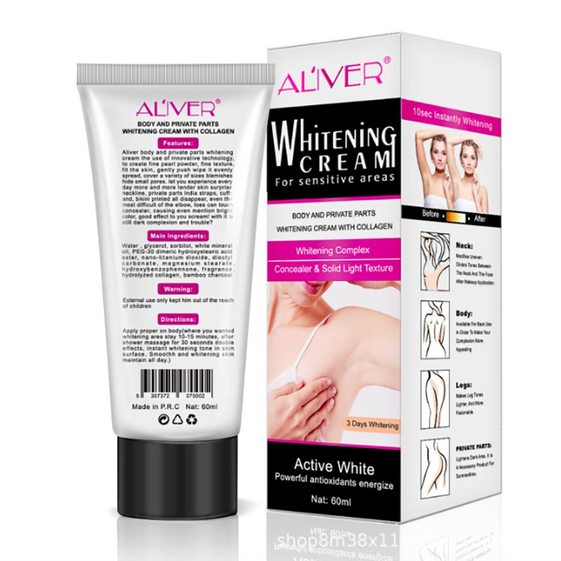 Beauty Body Creams Armpit Whitening Cream Between Legs Knees Private Parts Whitening Formula Armpit Whitener Intimate