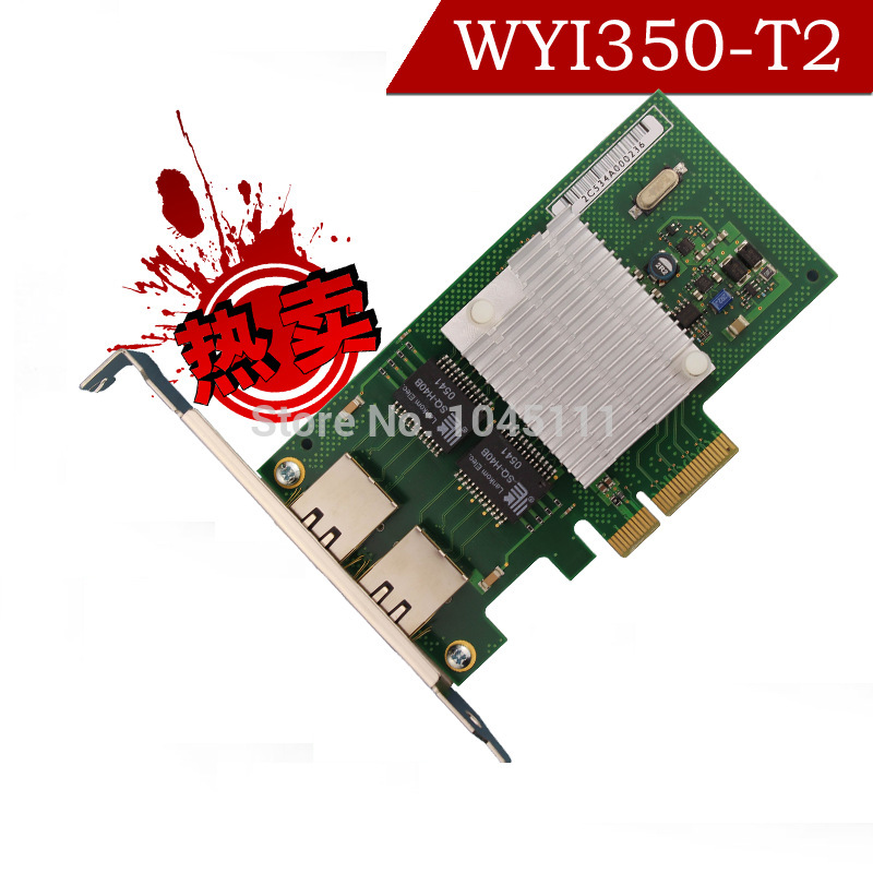 Winyao WYI350-T2 PCI-e X4 Dual Port Gigabit Server Ethernet Network Adapter Card esxi i350T2 E1G42ET 9404pt ROS pci express dual port 10 100 1000mbps gigabit ethernet controller card server adapter nic expi9402pt 9402pt 82571