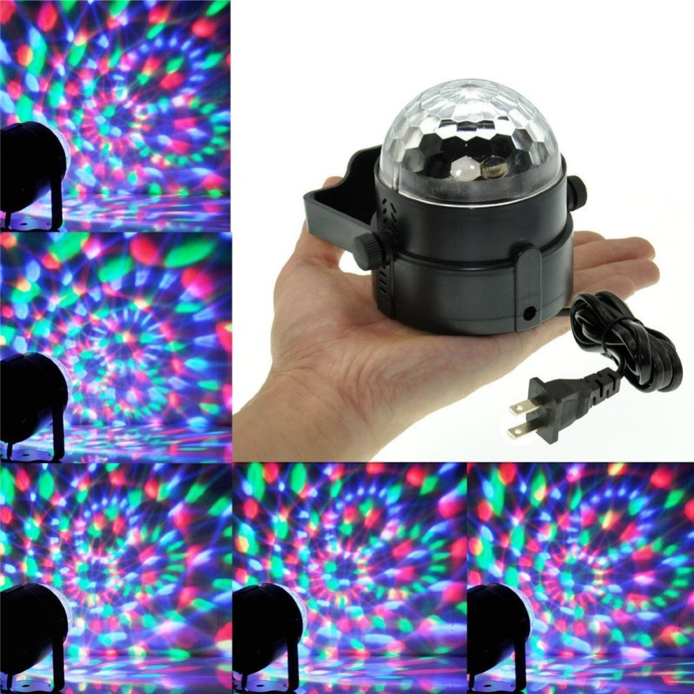 Free Shipping Small Airship 64 RGBW Color Changing 10W LED Moonflower Lighting Magic Pattern Stage Lights Projector