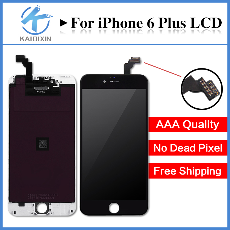 5PCS/LOT Replacement Wholesale Repair Parts For iPhone 6 Plus LCD Screen Display And Digitizer Assembly Free Shipping DHL